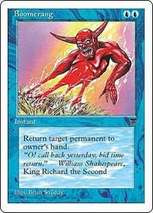 Magic the Gathering Chronicles Single Card Common Boomerang