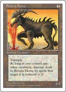 Magic the Gathering Chronicles Single Card Rare Bronze Horse