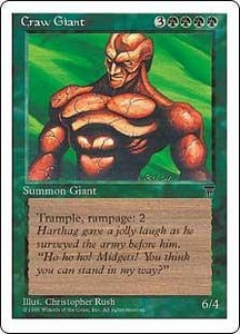 Magic the Gathering Chronicles Single Card Uncommon Craw Giant