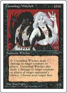 Magic the Gathering Chronicles Single Card Common Cuombajj Witches