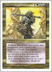 Magic the Gathering Chronicles Single Card Rare Dakkon Blackblade