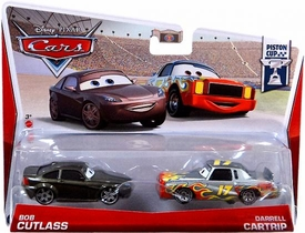 Disney / Pixar CARS Movie 1:55 Die Cast Car 2-Pack Bob Cutlass & Darrell Cartrip [Piston Cup 4/18]