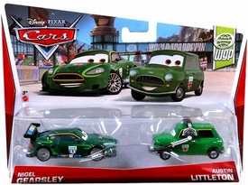Disney / Pixar CARS Movie 1:55 Die Cast Car 2-Pack Nigel Gearsley & Austin Littleton [WGP 4/17]