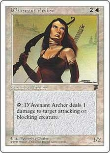 Magic the Gathering Chronicles Single Card Common D'Avenant Archer