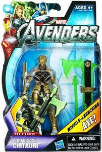 Marvel Avengers Movie 4 Inch Action Figure Cosmic Axe Chitauri [Missile Launching Axe!]