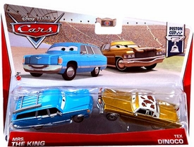 Disney / Pixar CARS Movie 1:55 Die Cast Car 2-Pack Mrs. The King & Tex Dinoco [Piston Cup 5/18 & 6/18]