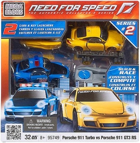 Need For Speed Mega Bloks Set #95749 Porsche 911 Turbo vs Porsche 911 GT3 RS