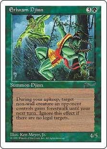 Magic the Gathering Chronicles Single Card Uncommon Erhnam Djinn