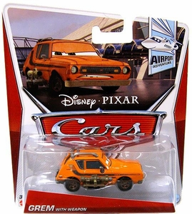 Disney / Pixar CARS Movie 1:55 Die Cast Car Grem with Weapon [Airport Adventure 1/7]