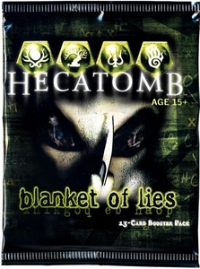 Hecatomb Trading Card Game Blanket of Lies Booster Pack [13 Cards] BLOWOUT SALE!