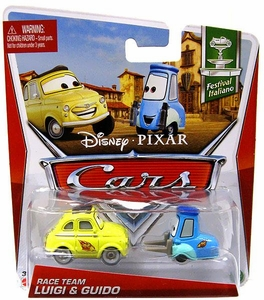 Disney / Pixar CARS Movie 1:55 Die Cast Car Race Team Luigi & Guido [Festival Italiano 2 & 3/10]