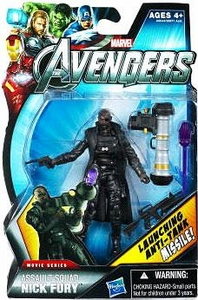 Marvel Avengers Movie 4 Inch Action Figure Assault Squad Nick Fury [Launching Anti-Tank Missile!]
