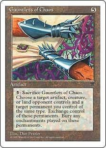 Magic the Gathering Chronicles Single Card Rare Gauntlets of Chaos