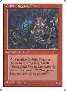 Magic the Gathering Chronicles Single Card Common Goblin Digging Team