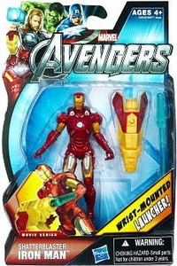 Marvel Avengers Movie 4 Inch Action Figure Shatterblaster Iron Man [Wrist Mounted Launcher!] BLOWOUT SALE!
