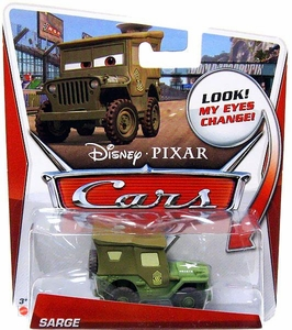 Disney / Pixar CARS Movie 1:55 Die Cast Car with Lenticular Eyes Sarge