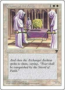 Magic the Gathering Chronicles Single Card Common Keepers of the Faith