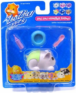 Zhu Zhu Pets Hamster Babies Snickle Fritz [White Baby with Green Diaper and Dish]