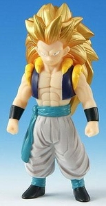 Dragonball Z Bandai 6 Inch Dragon Hero Semi-Poseable Vinyl Figure Super Saiyan 3 Gotenks