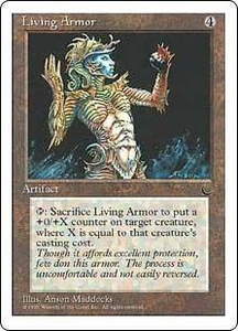 Magic the Gathering Chronicles Single Card Common Living Armor