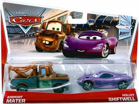 Disney / Pixar CARS Movie 1:55 Die Cast Car 2-Pack Airport Mater & Holley Shiftwell [Airport Adventure 3/7]