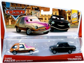 Disney / Pixar CARS Movie 1:55 Die Cast Car 2-Pack Tubbs Pacer with Paint Spray & Tolga Trunkov [Lemons 7/7]