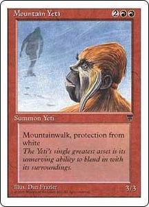 Magic the Gathering Chronicles Single Card Common Mountain Yeti
