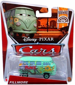 Disney / Pixar CARS Movie 1:55 Die Cast Car Fillmore [Wheel Well Motel 6/11]