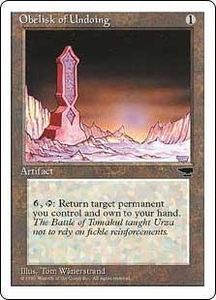 Magic the Gathering Chronicles Single Card Rare Obelisk of Undoing