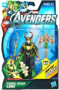 Marvel Avengers Movie 4 Inch Action Figure Cosmic Spear Loki [Snap Out Blades!]