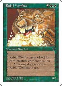 Magic the Gathering Chronicles Single Card Uncommon Rabid Wombat