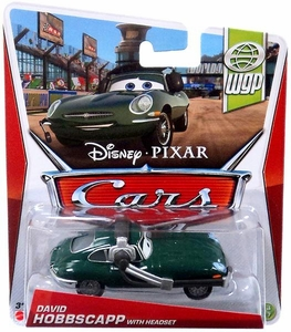 Disney / Pixar CARS Movie 1:55 Die Cast Car David Hobbscapp with Headset [WGP 13/17]