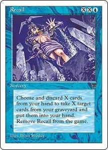 Magic the Gathering Chronicles Single Card Uncommon Recall
