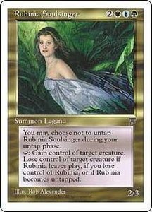 Magic the Gathering Chronicles Single Card Rare Rubinia Soulsinger