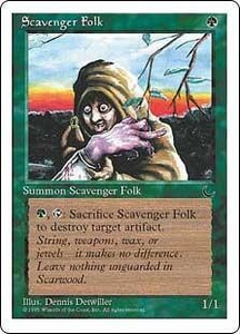 Magic the Gathering Chronicles Single Card Common Scavenger Folk
