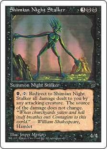 Magic the Gathering Chronicles Single Card Uncommon Shimian Night Stalker