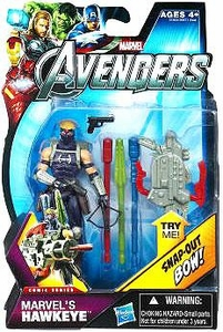 Marvel Avengers Comic 4 Inch Action Figure Marvel's Hawkeye {Masked} [Snap Out Bow!]