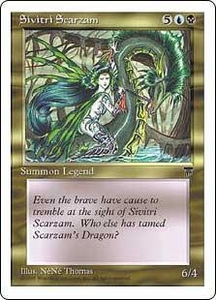 Magic the Gathering Chronicles Single Card Uncommon Sivitri Scarzam