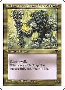 Magic the Gathering Chronicles Single Card Rare Sol'kanar the Swamp King