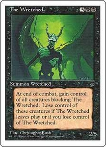 Magic the Gathering Chronicles Single Card Rare The Wretched