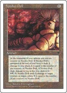 Magic the Gathering Chronicles Single Card Rare Voodoo Doll