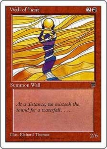 Magic the Gathering Chronicles Single Card Common Wall of Heat