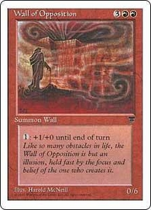 Magic the Gathering Chronicles Single Card Uncommon Wall of Opposition