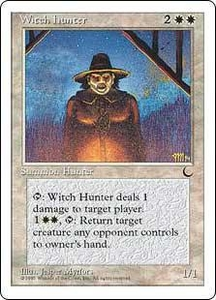 Magic the Gathering Chronicles Single Card Uncommon Witch Hunter Played Condition Not Mint