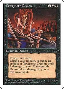Magic the Gathering Chronicles Single Card Rare Yawgmoth Demon