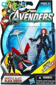 Marvel Avengers Movie 4 Inch Action Figure Grapple Blast Black Widow [Grapple Launcher!]