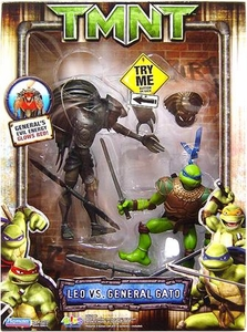 Teenage Mutant Ninja Turtles TMNT Movie Action Figure 2-Pack Leonardo Vs. General Gato