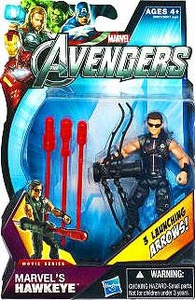 Marvel Avengers Movie 4 Inch Action Figure Marvel's Hawkeye {Sunglasses} [3 Launching Arrows!]