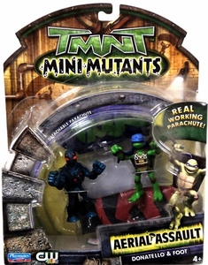 Teenage Mutant Ninja Turtles TMNT Mini Mutants Aerial Assault Donatello & Foot