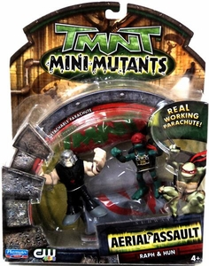 Teenage Mutant Ninja Turtles TMNT Mini Mutants Aerial Assault Raph & Hun